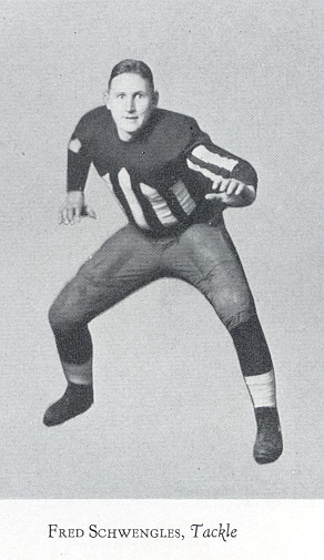 Individual Football Photograph 1928 ECHO Yearbook