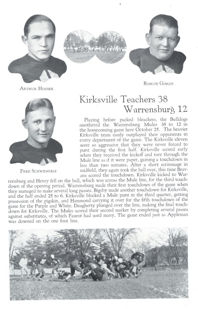 Football Entry with Individual Photograph 1930 ECHO Yearbook
