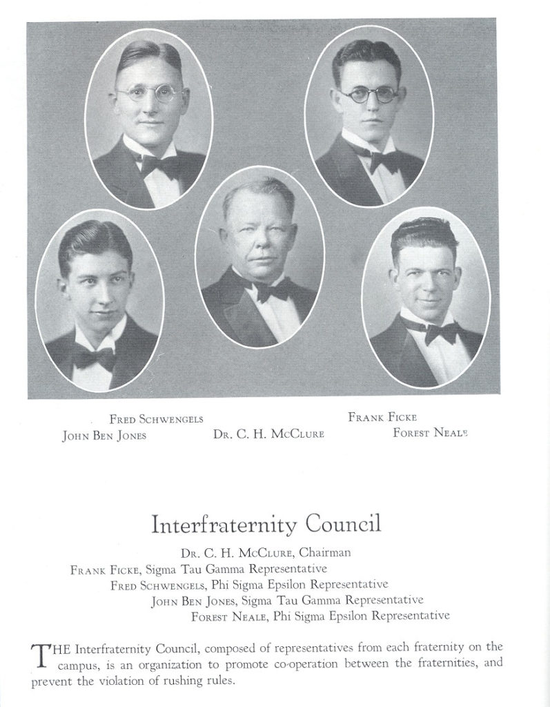 Interfraternity Council 1930 ECHO Yearbook