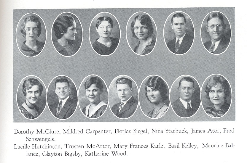 Student Council 1930 ECHO Yearbook