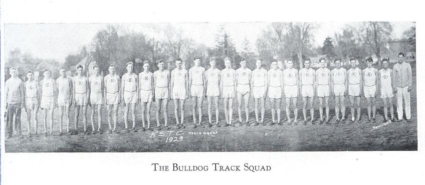 Track Squad 1930 ECHO Yearbook