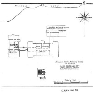 Map of Missouri State Normal School of the First District