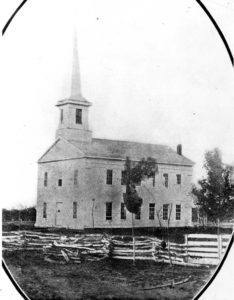 First school building, Cumberland Academy