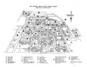 Map of Northeast Missouri State College