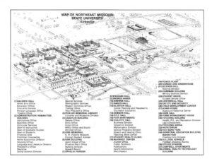 Map of Northeast Missouri State University
